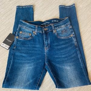Saint Laurent Mid-Rise Skinny Jeans - 26